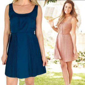 Lauren Conrad Teal Pleated Summer Dress